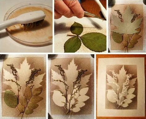 craft projects for adults splatter with layered leaves tree projects for