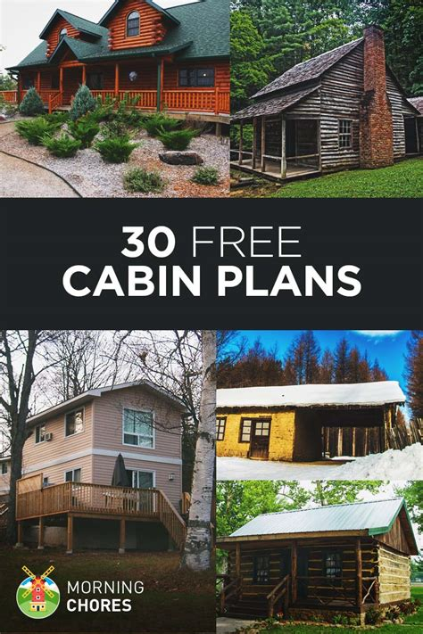 free log cabin floor plans 30 diy cabin log home plans with detailed step by step
