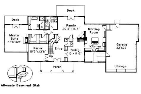 colonial house floor plans colonial house plans clairmont 10 041 associated designs