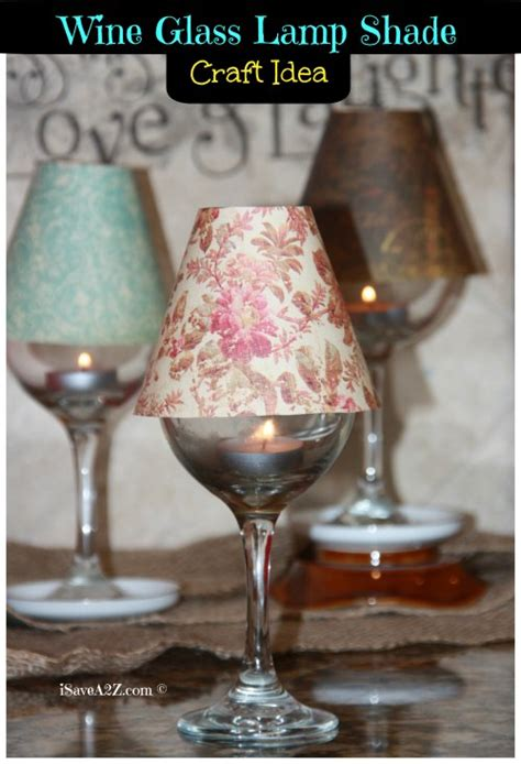 wine glass craft projects wine glass l shade diy project isavea2z