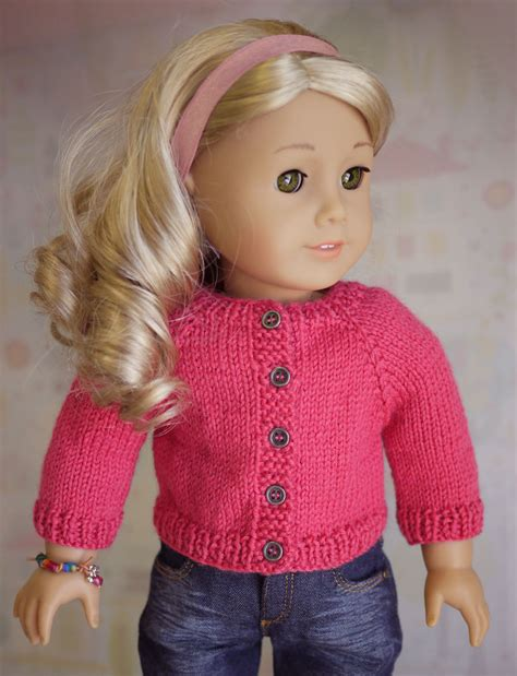 free knitting patterns for sweaters for american doll cardigan sweater knitting pattern