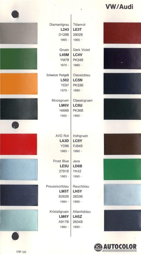 original paint colors vw vw paint colors ideas vw original paint color chart cars