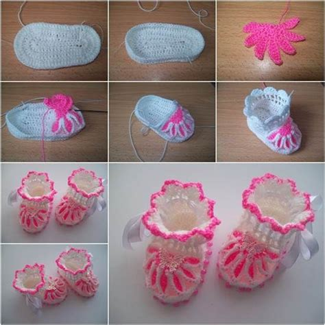 how to knit a flower for a baby hat crochet flower baby booties pictures photos and images