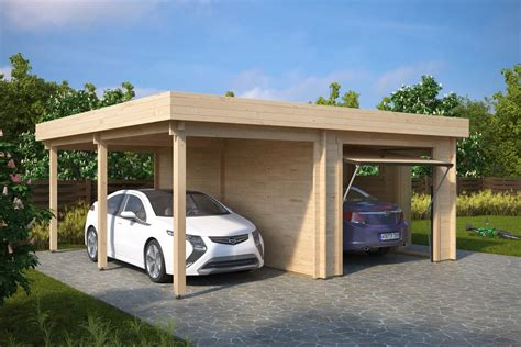 A Carport by Combined Garage And Carport With Up And Doors Type H