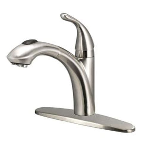 glacier bay pull kitchen faucet glacier bay keelia single handle pull out sprayer kitchen faucet in brushed nickel fp4a0052bnv