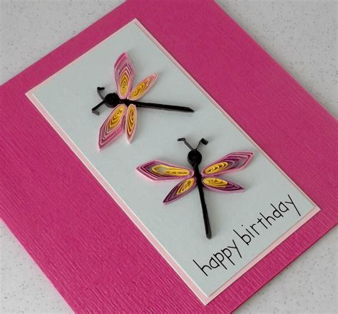 paper cards paper cards quilled dragonflies