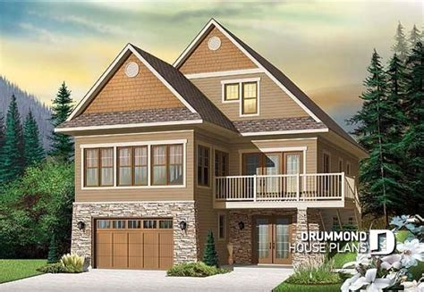 house plans for sloping lots house plan w4916 v1 detail from drummondhouseplans