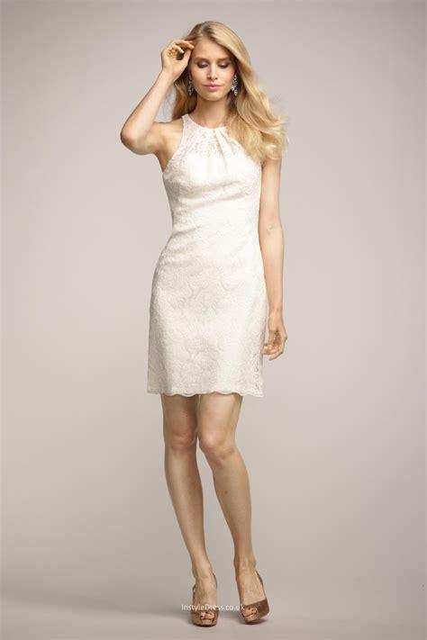 dresses uk sleeveless crew neck ivory bridesmaid dress uk with
