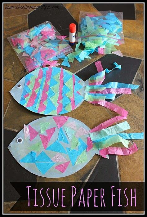 tissue paper crafts for preschoolers best 25 paper fish ideas on paper crafts for