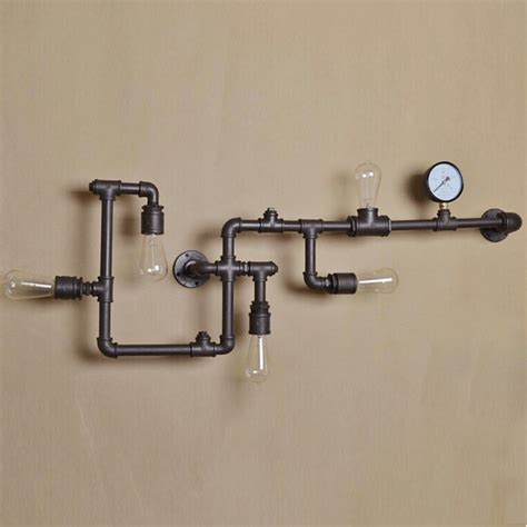 nordic industrial steam pipe design loft wall light