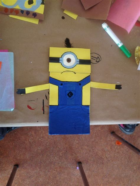 paper bag arts and crafts minion paper bag puppet arts and crafts