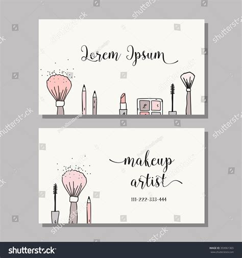 what company makes cards makeup artist business card vector template stock vector