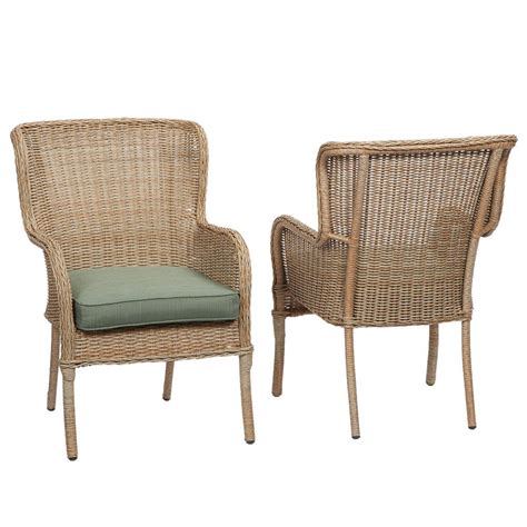 patio dining chair hton bay castle rock patio dining chair with toffee
