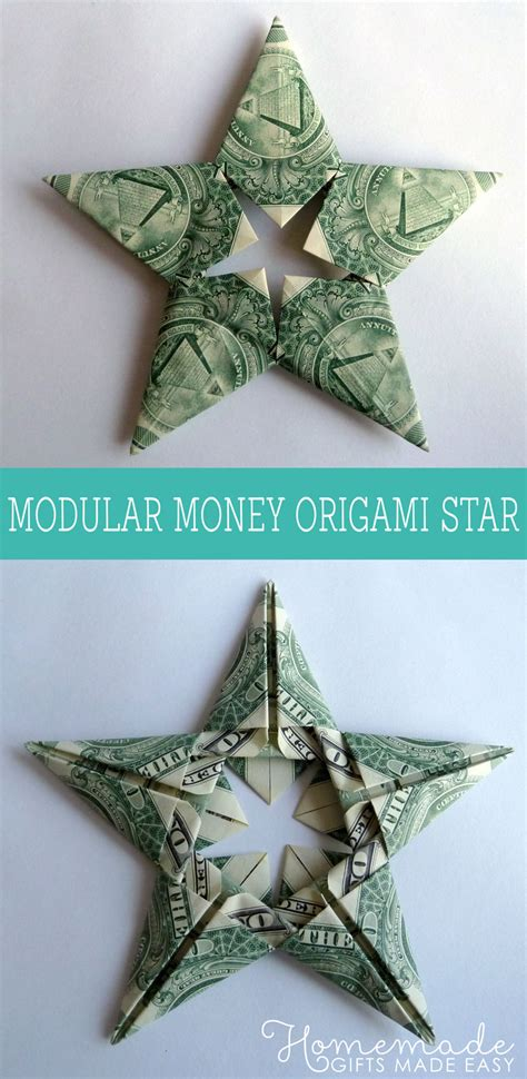 money origami how to modular money origami from 5 bills how to fold step