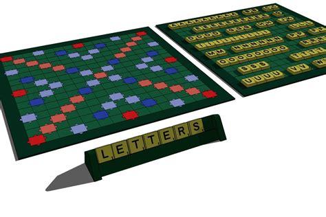 scrabble 3d 3d board set model