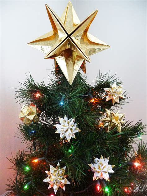 origami tree topper papyrus origami tree topper gold classic