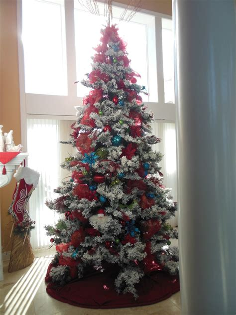 glamorous trees glamorous flocked tree in spaces traditional