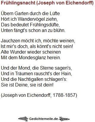 Der Alte Garten Eichendorff by Fr 252 Hlingsgedichte Gedichte Zum Fr 252 Hling