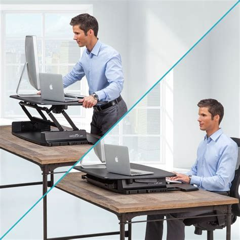 adjustable desktop standing desk varidesk pro 36 height adjustable black