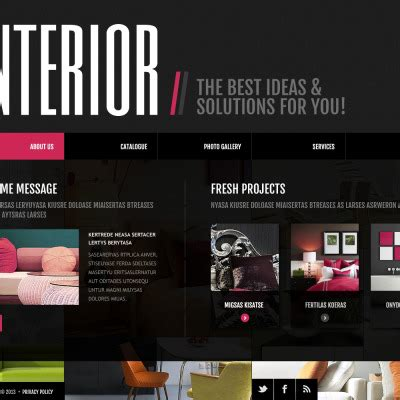 interior design website templates interior design website templates