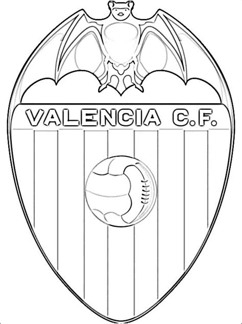 logo of valencia cf football team coloring pages