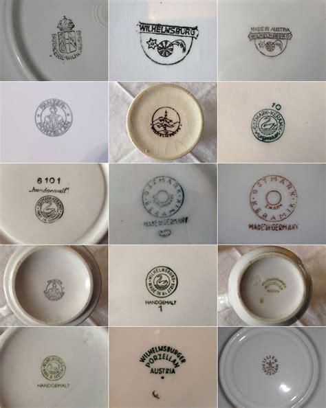 alte thüringer porzellanmarken wilhelmsburger steingut bodenmarken 1907 bis 1994