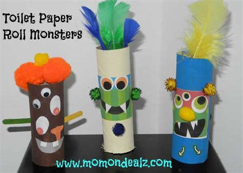 Toilet Paper You Monster by Halloween Crafts For Kids Toilet Paper Roll Monsters