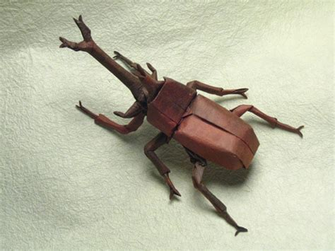 origami bugs mind boggling insects created out of one sheet of paper