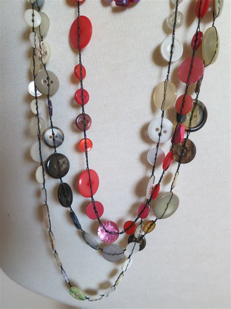 how to make jewelry with buttons button necklaces louise