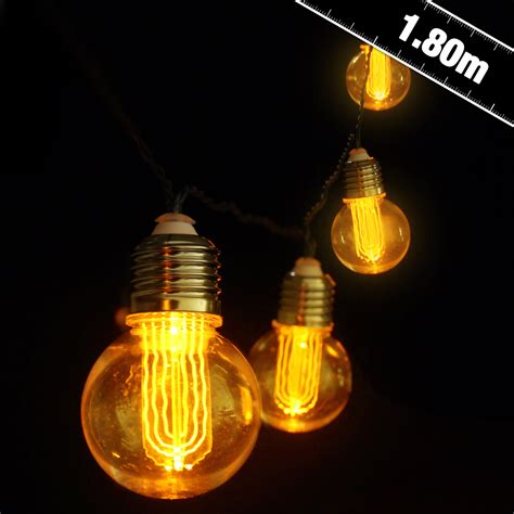 battery lights battery operated nostalgia bulb string lights