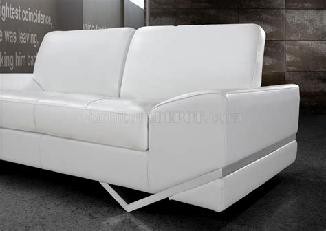 modern loveseat sofa white leather modern 3pc sofa loveseat chair set