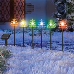 light stakes for yard solar power color changing tree light stakes