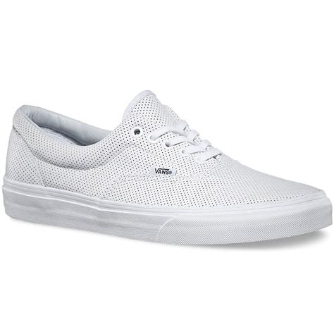 vans era leather vans era perforated leather shoes