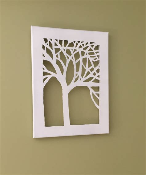 Easy Do It Yourself Home Decor proud tree canvas art cut out island scents soy melts