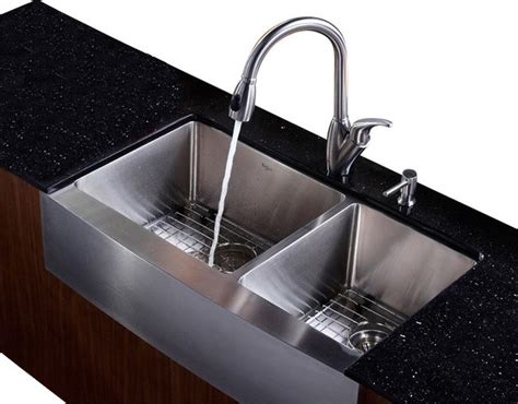 houzz kitchen sink 36 in farmhouse bowl sink with faucet and soap
