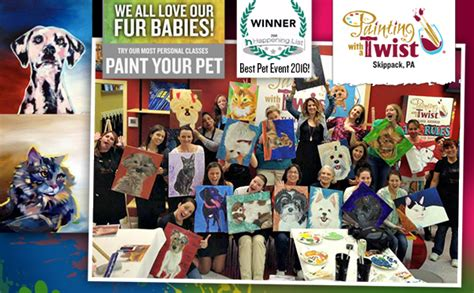 painting with a twist paint your pet 2016 paint your pet montco happening