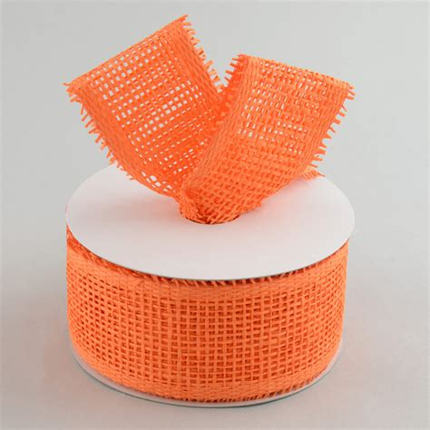 paper mesh craft 2 5 quot paper mesh ribbon orange 20 yards rr600120