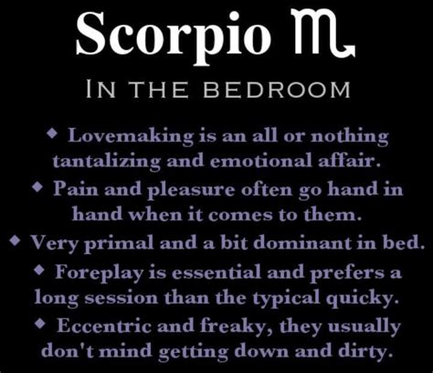how to dominate a in bed scorpios scorpio facts