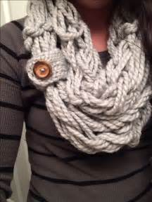 arm knit arm knitted scarf with a button loop guess i m gonna