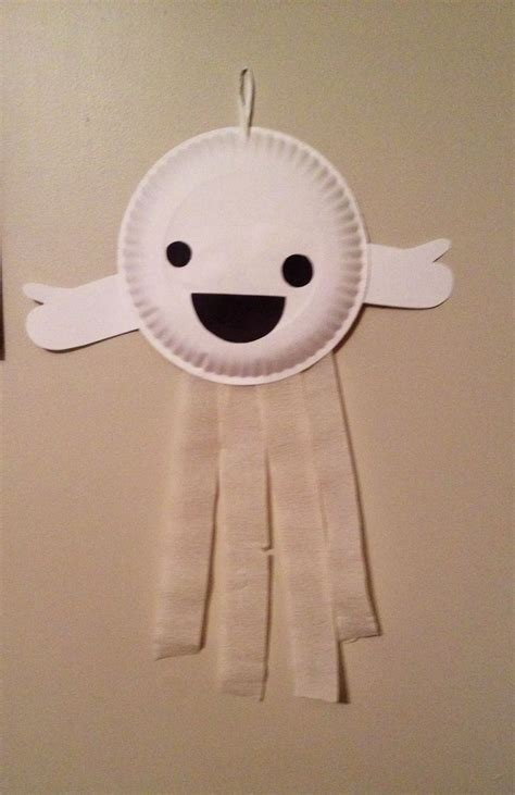paper plate ghost craft paper plate ghost preschool craft fall