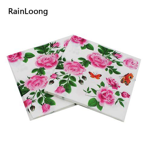 decoupage napkins buy aliexpress buy rainloong floral paper napkins