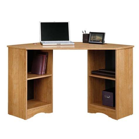 sauder beginnings corner desk sauder beginnings highland oak desk with storage 413074
