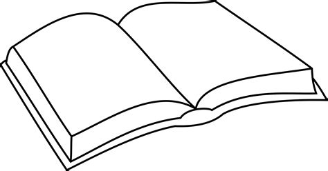 outline picture of a book clipart open book outline coloring