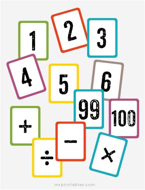 how to make math flash cards free printable math flash cards mr printables