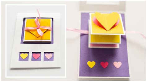 steps to make greeting cards how to make pop up greeting card s day hearts