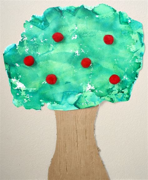 arts and crafts with tissue paper tissue paper apple tree craft