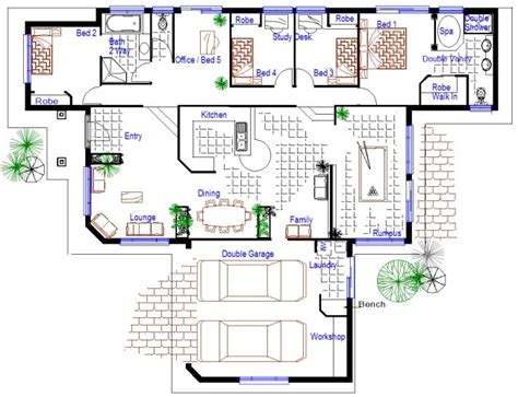5 bedroom floor plans australia 5 bedroom sloping land split level kit home design