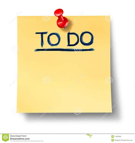 to do with paper to do list office note reminder attention paper stock