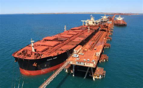 bulk australia iron ore shipping set to top 1 3 billion tons as australia