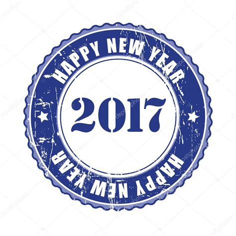 happy new year rubber st happy new year 2017 grunge rubber st stock vector